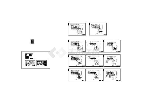 咸阳某三层幼儿园电气设计施工图纸-图二