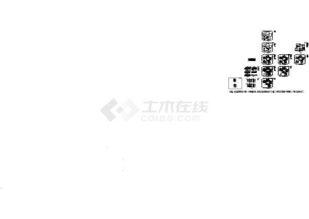 利比亚某四层公寓电气设计施工图纸-图二