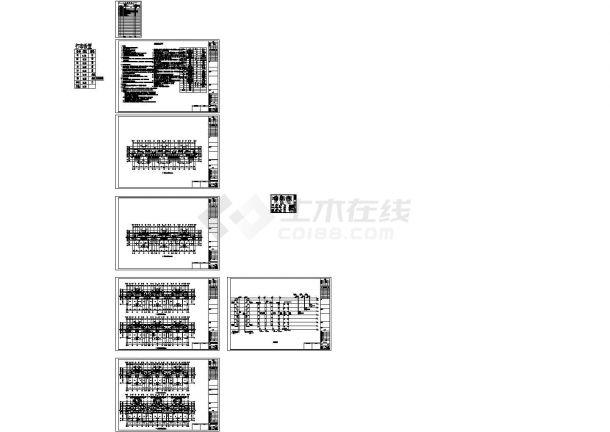 苏州某多层住宅给排水CAD设计施工图-图一