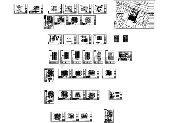 上海某二层别墅电气设计施工图纸-图一