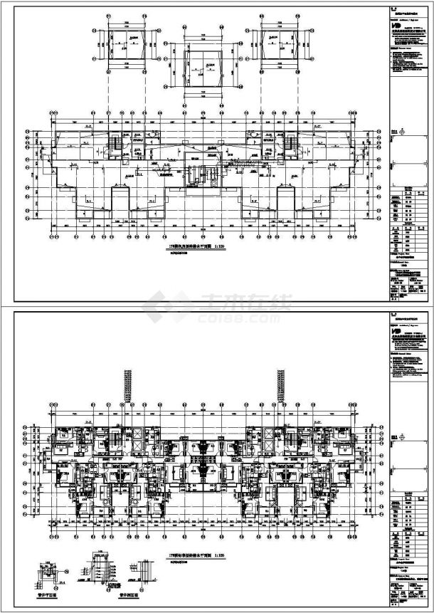 郑州某住宅小区给排水施工CAD图纸设计,含施工说明-图一