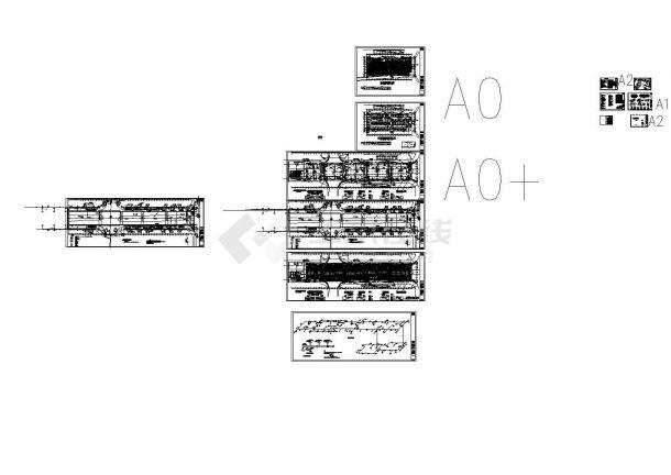 [湖南]地下商场给排水施工CAD图纸设计,含设计说明,施工说明-图一
