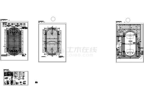 中学的总平规划、雨水收集及操场构造详图-图二