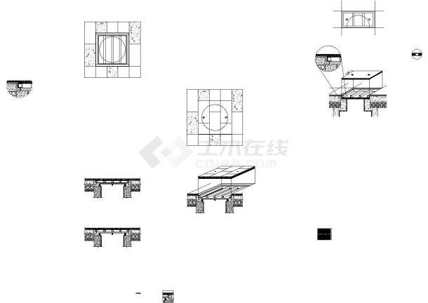 无边框双 层井盖详细CAD施工图-图一