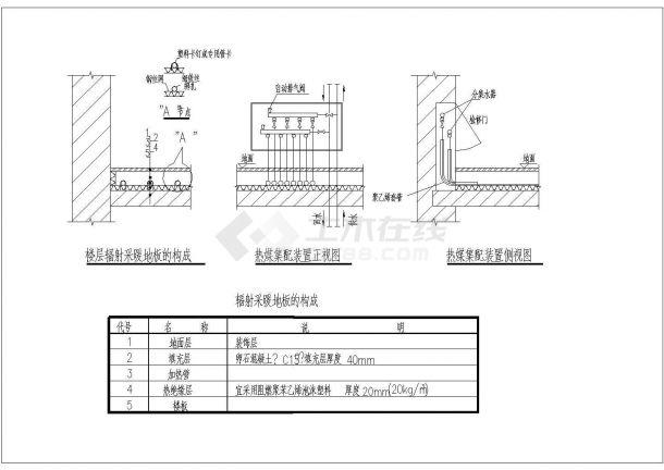 典型地板采暖工程设计cad大样图系列集合图纸(7个CAD文件)-图一