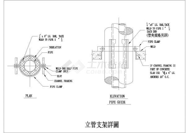暖通工程管道安装大样图cad系列集合图纸-图一