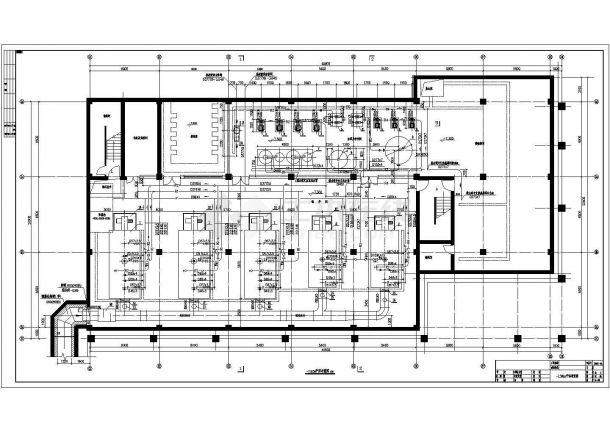某暖通工程锅炉房(全自动燃气热水锅炉)设计cad全套施工图-图二