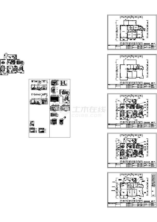 长14.1米 宽11.1米 简约风格装施【原始结构 墙改 平面布置 家具尺寸图 地铺 室内立面 2张JPG室内效果图】-图一