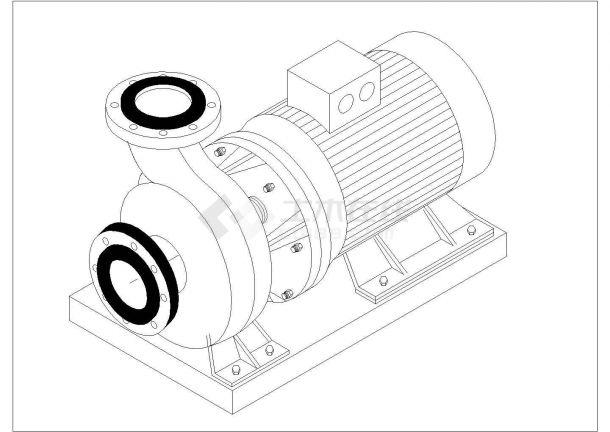 经典暖通工程水泵安装cad 标准大样图-图一