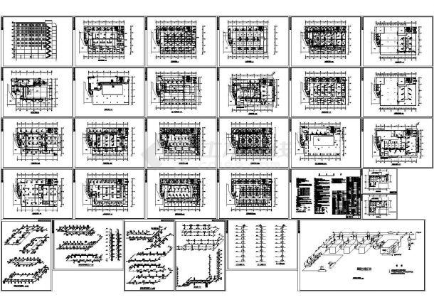 某大厦采暖通风空调设计cad施工图纸-图一
