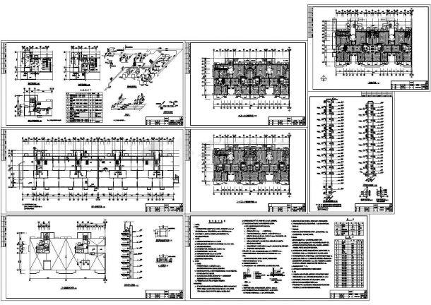 某高层剪力墙结构住宅楼(采暖面积22013.76㎡)采暖系统设计cad全套施工图纸(含设计说明)-图二