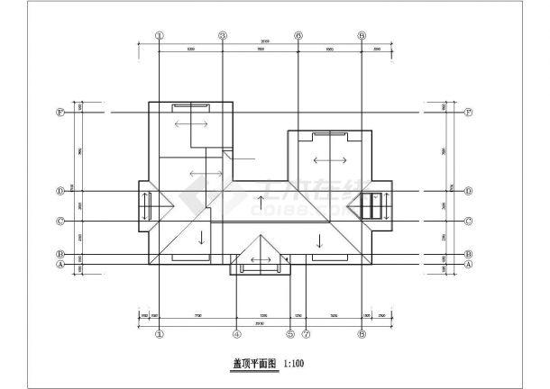 566.5平方米独栋别墅户型施工CAD平面图-图一