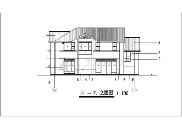 566.5平方米独栋别墅户型施工CAD平面图-图二