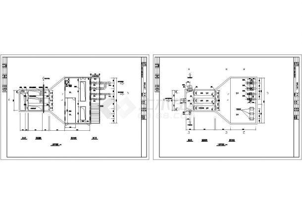 某污水处理厂粗格栅间、提升泵房平面图-图一
