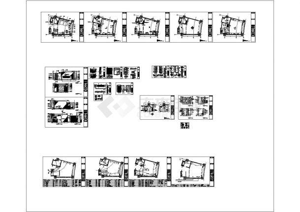 酒店客房装修施工图【家具 天花 地面 墙体 灯位 开关 灯具空调插座电视电话布线 立面详图】cad设计施工图-图一