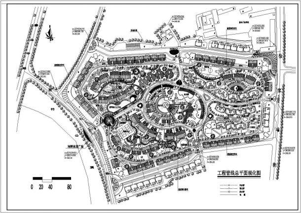 住宅小区工程管线规划设计cad图(含平面图)-图一