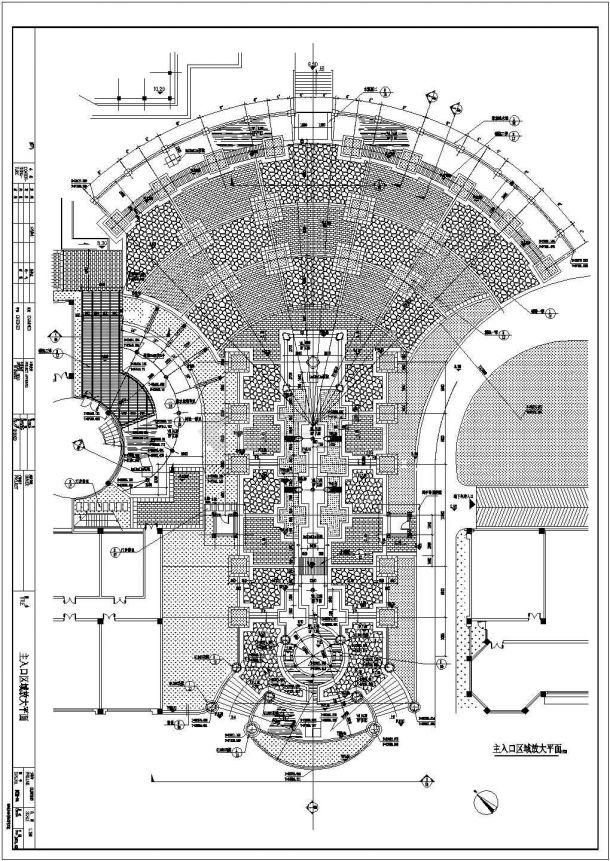 某园林工程施工cad图,共十七张-图二