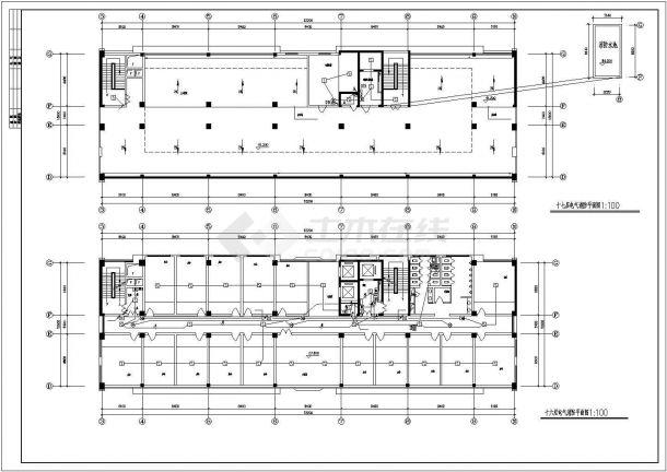 办公楼设计_卫生厅办公楼电气施工图 cad图纸-图二