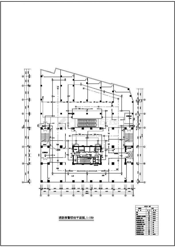 某1456平方米商场电气、消防设计CAD图-图一