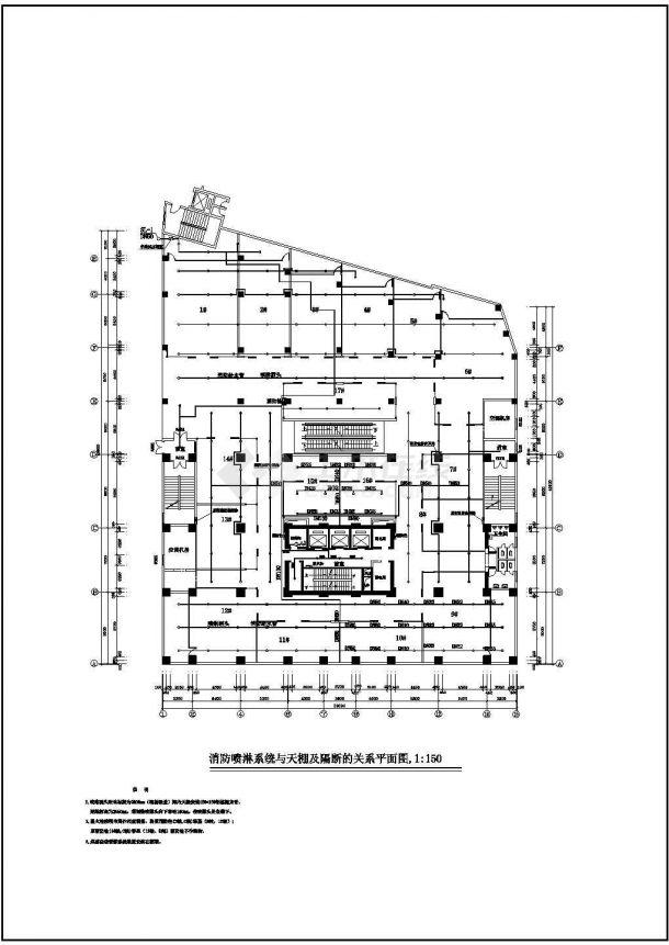 某1456平方米商场电气、消防设计CAD图-图二