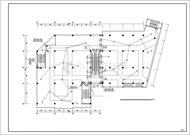商场电气消防设计电气CAD图纸-图一