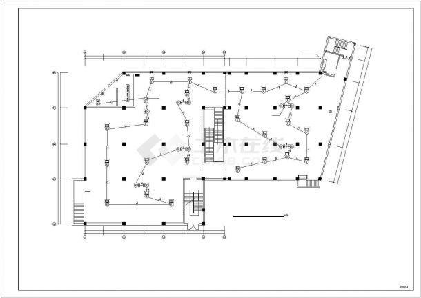 商场电气消防设计电气CAD图纸-图二