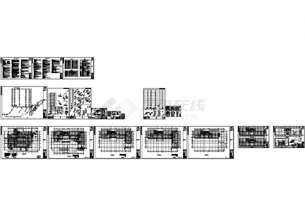 唐山市某十二层20007.70m2研发中心大楼给排水图纸-图一