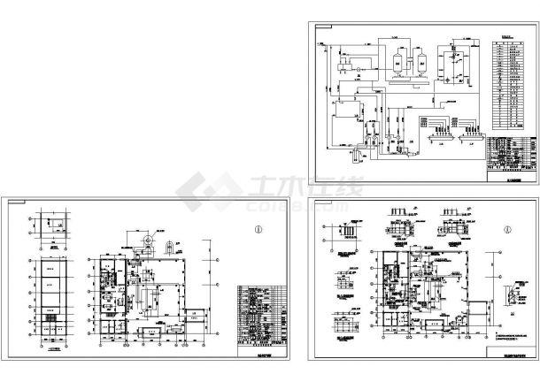 某20t热水锅炉房设计cad全套工艺施工图(含设计说明,6个CAD文件)-图一