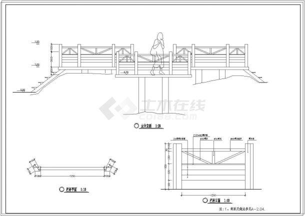 国家湿地公园景观设计CAD施工图全套-图二
