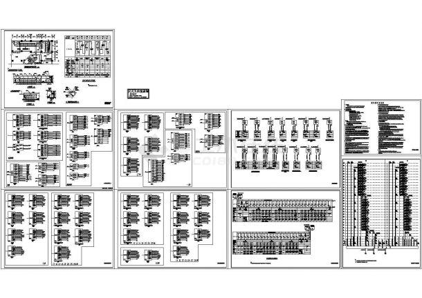 多层商住楼高低压配电系统设计cad图纸-图二