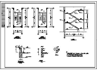 某三层现浇钢筋混凝土框架结构异形住宅楼结构施工cad图_住宅楼施工-图一