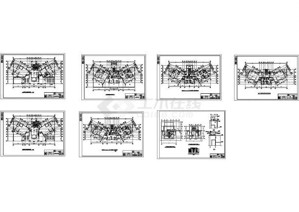 某高层塔式住宅给排水设计cad图纸(A型)-图二