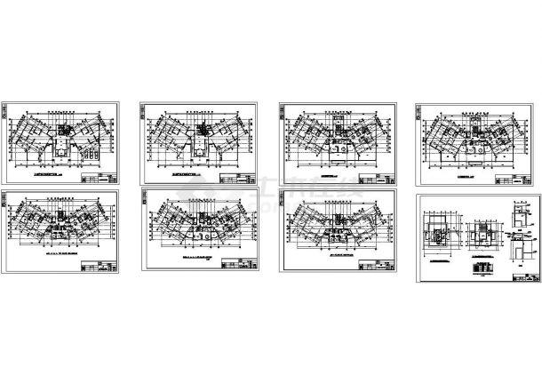 某高层塔式住宅给排水设计cad图纸(B型)-图一
