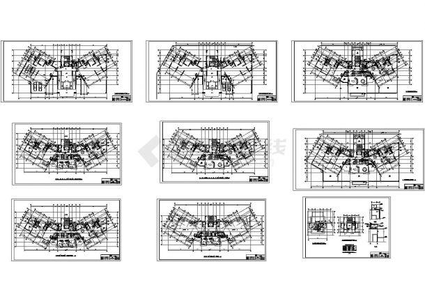 某高层塔式住宅给排水设计cad图纸(B型)-图二