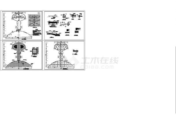 [长春]区级公园园林景观工程CAD施工图-图一
