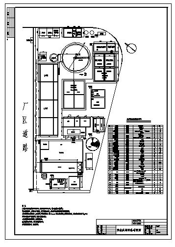 某厂肉类食品废水处理工艺施工cad图,共二十一张-图二