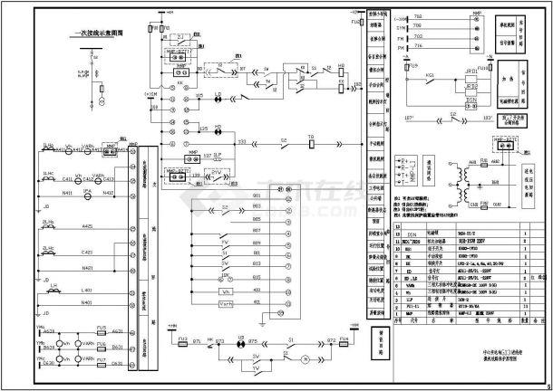 某中心变电站10kv高压开关柜设计cad二次原理图-图一