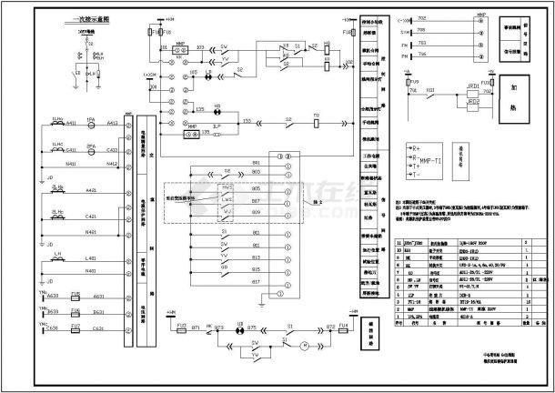某中心变电站10kv高压开关柜设计cad二次原理图-图二