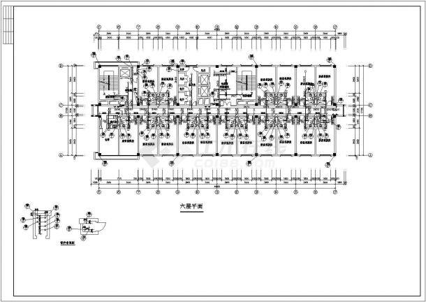 长62.4米 宽56.7米 -1+17层宾馆水施【各层平面 1-4层喷淋平面 17层给排水连接管平面 卫生间大样 屋顶水箱大样 消防喷淋给排热水系统】cad图纸-图一