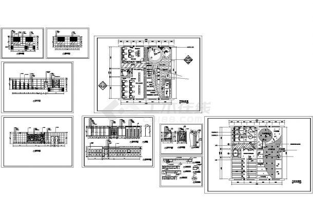 某小型洗浴室装修设计cad全套施工图(甲级院设计)-图一