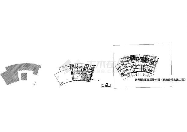 [宁波] 酒店景观给排水施工图-图一