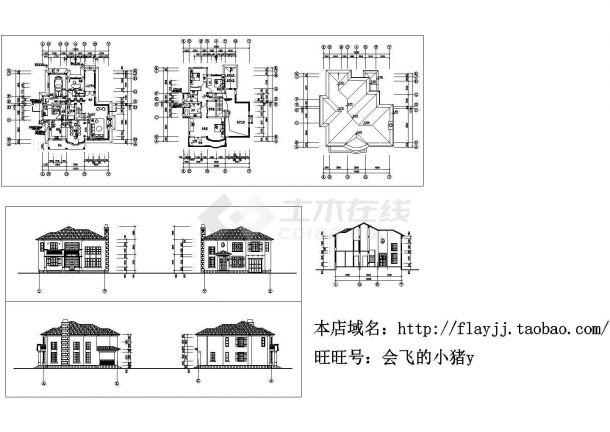 2层:长14.7米 宽13.2米 经典农村住宅建筑设计图-图一