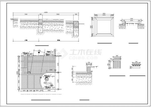 重庆某公园景观设计cad全套施工图-图二
