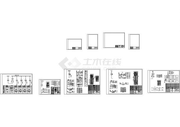 沈阳熙鎔耐火建筑材料厂高压配电工程6台10KV高压开关柜设计cad全套电气原理施工图(甲级院设计)-图一