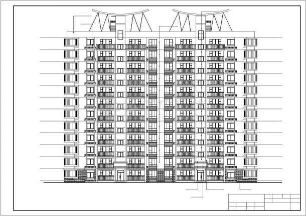 【某地】11层板式住宅楼建筑全套cad图,含效果图-图一