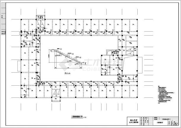 某多层框架结构商业办公楼毕业设计cad详细结构施工图(含设计说明,含建筑设计,含计算书、施工组织设计)-图一