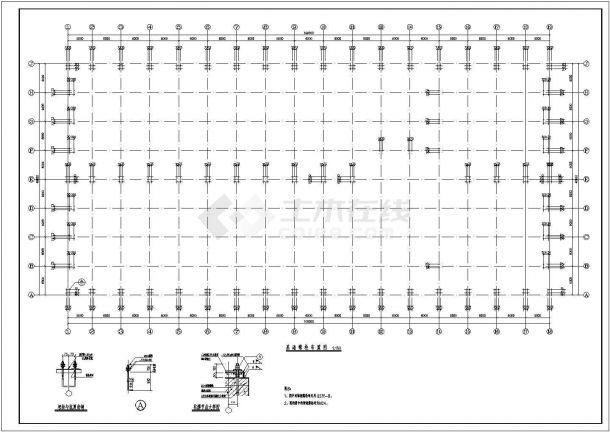 某地大型工业厂房建筑施工图-图二