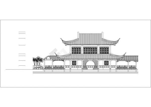 经典古建筑cad设计施工图纸-图一
