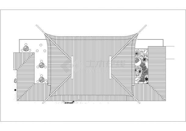 经典古建筑cad设计施工图纸-图二