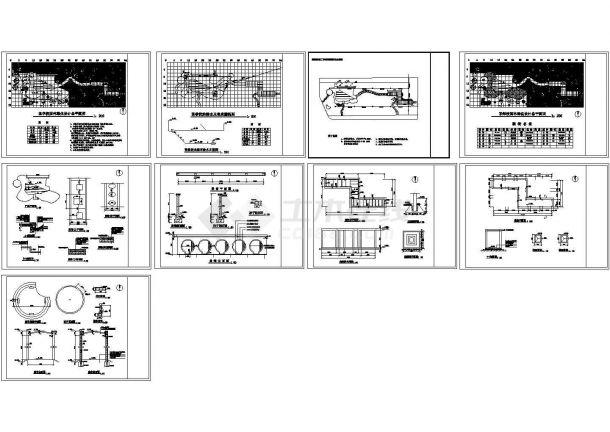 某学校景观绿化CAD全套图纸-图二